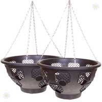 15 inch Easy Fill Hanging Basket BOGOF (2 Baskets)